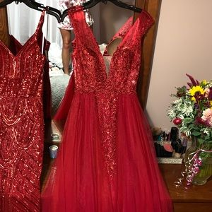Jovani Dresses - Red Prom or Pageant Gown